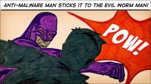 anti malware and evil worm man