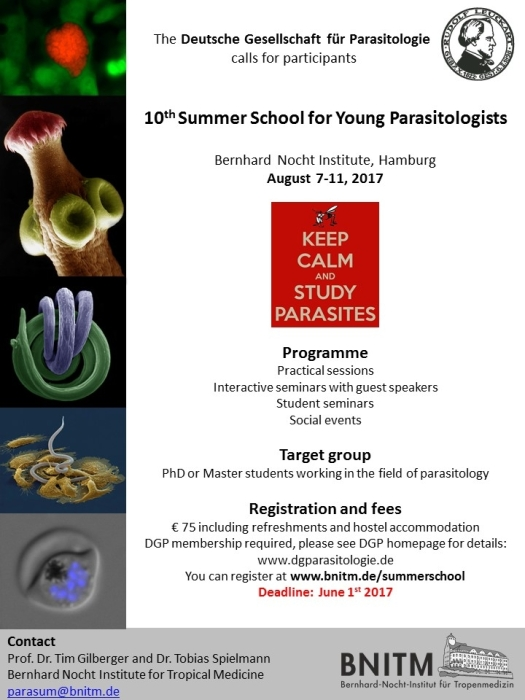10th summer school for young parasitologists DGP poster170807 from Johann S