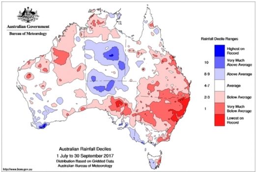 rainfall deciles jul-sept bom